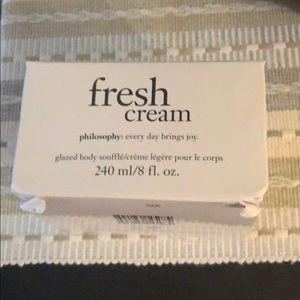 Philosophy Fresh Cream glazed body soufflé 8 fl oz
